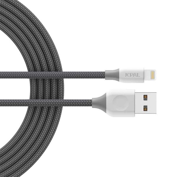 JCPal Linx FlexLink Lightning to USB Cable (1.8m/6ft) MFI - Gray