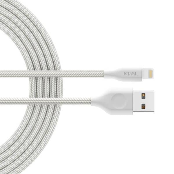 JCPal Linx FlexLink Lightning to USB Cable (1.8m/6ft) MFI - White