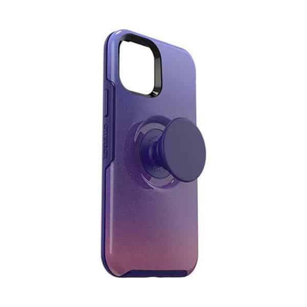 OtterBox Otter+Pop Symmetry Series Case for iPhone 12 5G/iPhone 12 Pro 5G Violet Dusk
