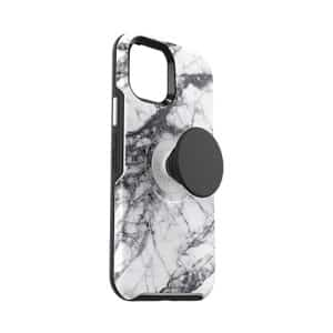OtterBox Otter+Pop Symmetry Series Case for iPhone 12 5G/iPhone 12 Pro 5G White Marble Graphic