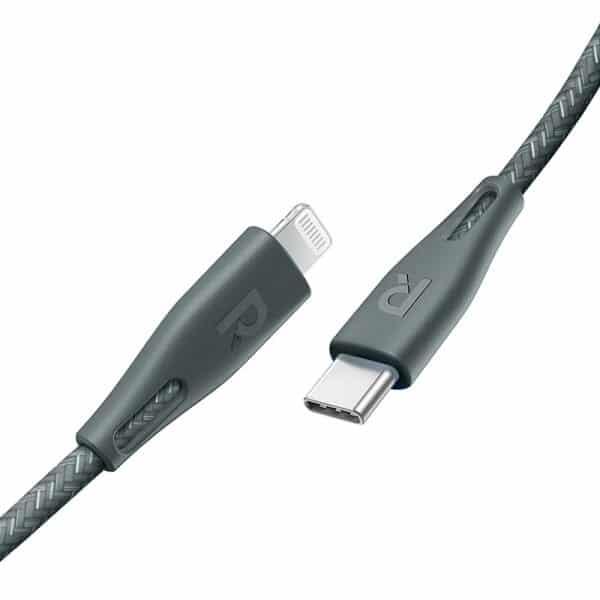 RAVPower Nylon Braided Type-C to Lightning Cable RP-CB1004GRN (1.2m/3.9ft) - Green
