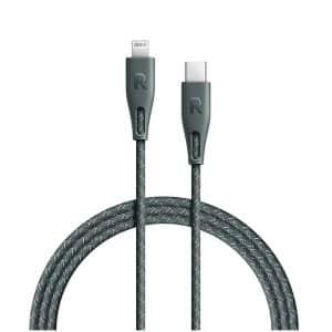 RAVPower Nylon Braided Type-C to Lightning Cable RP-CB1005GRN (2m/6.6ft) - Green