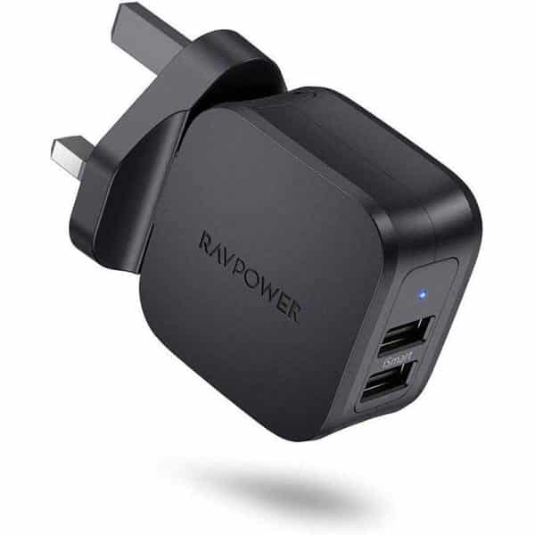 RAVPower Prime 17W 2-Port USB Wall Charger RP-PC121 - Black