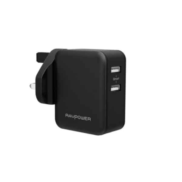 RAVPower Prime 24W 2-Port USB Wall Charger RP-PC001 - Black