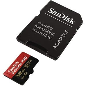 SanDisk Extreme Pro MicroSDXC UHS-I Card with Adapter 128GB