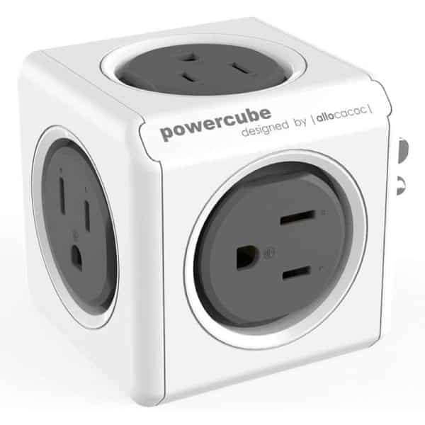 Allocacoc PowerCube Original 5 Power Outlets UK Gray