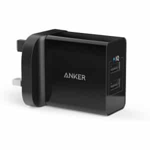 Anker 24W 2-Port USB Charger Black