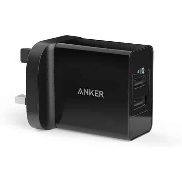 Anker 24W 2-Port USB Charger Black