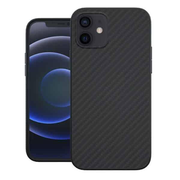Evutec Slim Light Smooth Case with AFIX+ Magnetic Vent Mount for iPhone 12 mini Black