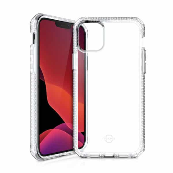 """ITSkins Spectrum Clear Antimicrobial Case for iPhone 12/iPhone 12 Pro (6.1"""") - Transparent"""