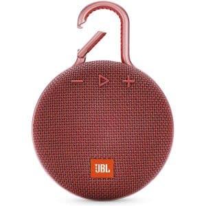 JBL Clip 3 Waterproof Portable Bluetooth Speaker Red