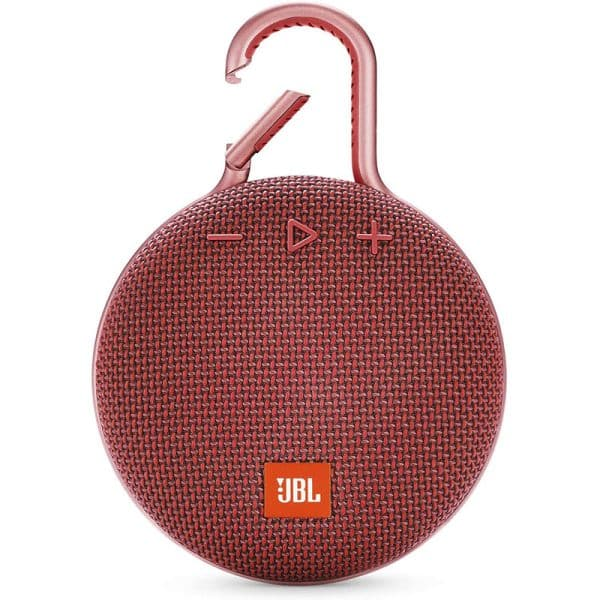 JBL Clip 3 Waterproof Portable Bluetooth Speaker Red