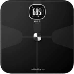 MOMAX HeaIth Tracker IoT Body Scale Black