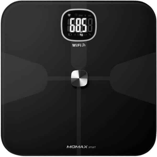 MOMAX HeaIth Tracker IoT Body Scale Black