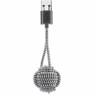 Native Union Key Cable USB-A to Micro-USB Zebra