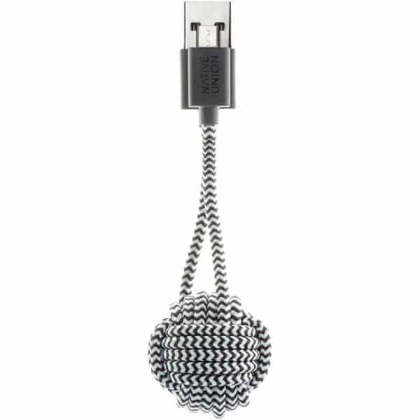 Native Union Key Cable USB-A to Micro-USB Zebra