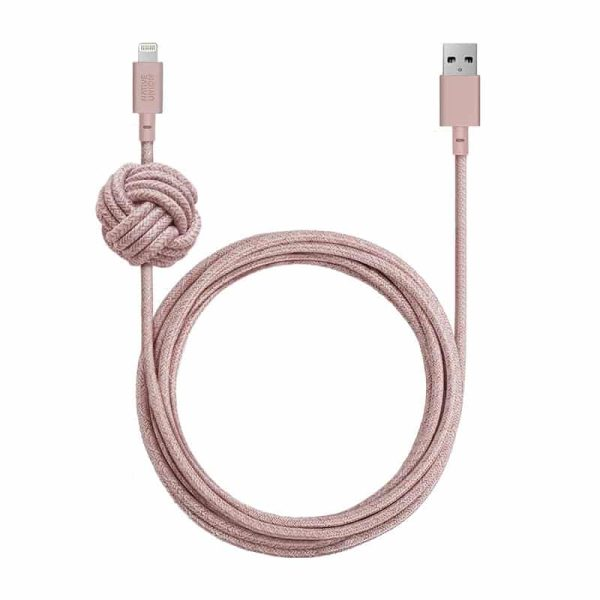 Native Union Night Cable USB-A to Lightning (10ft/3m) Rose