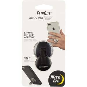 NiteIze FlipOut Folding Handle and Stand for Smartphones FLO2-01-R7 Black