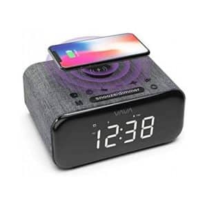 VAVA Voom 27 5-in-1 Wireless Bluetooth Speaker with Alarm Clock Wireless Charging Black
