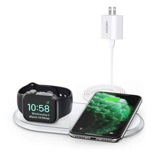 CHOETECH 2 in 1 Fast Wireless Charging Pad White