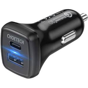 CHOETECH 36W Fast Car Charger Black