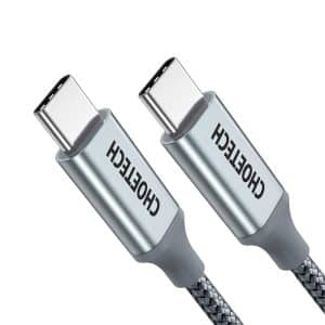 CHOETECH USB-C to USB-C Nylon Braided Cable 1.8m 6ft Gray