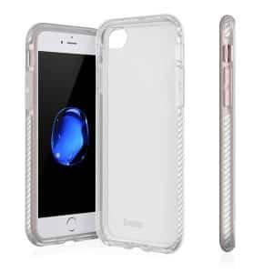 Evutec Selenium Case for iPhone SE/iPhone 8/iPhone 7 Clear Silver