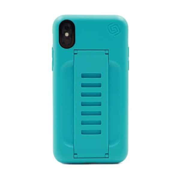 Grip2u BOOST Case with Kickstand for iPhone XS/X Aqua