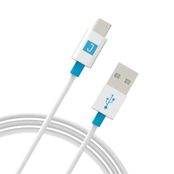 JUKU USB-A to USB-C Charge & Sync Cable 1.2M White