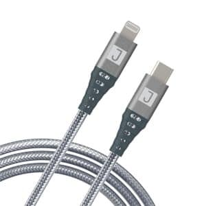 JUKU USB-C to Lightning Charge & Sync Cable 2M Metallic Space Gray