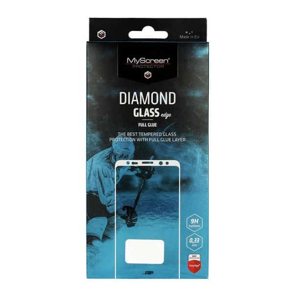MyScreen DIAMOND GLASS edge Full Glue Protector for iPhone XR/iPhone 11 - Black