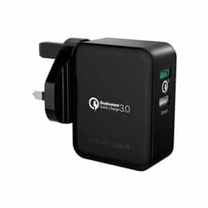 RAVPower 30W Dual Ports USB Wall Charger UK RP-PC006 Black