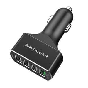 RAVPower 54W 4-Port USB Car Charger RP-VC003 Black
