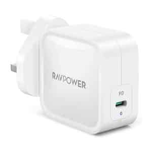 RAVPower PD Pioneer 61W GaN USB-C Wall Charger UK RP-PC112 White