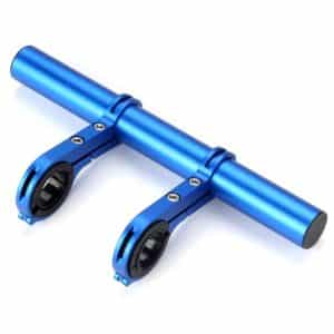 Aluminium Bicycle Handlebar Extender 20CM with Double Brackets Blue