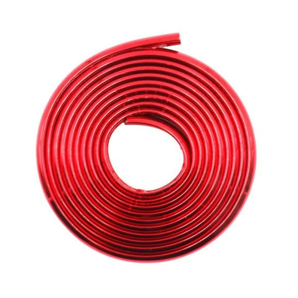 Bumper Strip Anti-Collision Body Protective Tape for Xiaomi Electric Scooter Red