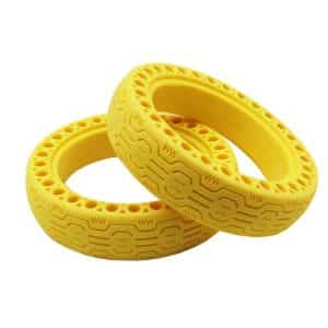 Honeycomb Solid Tyre 8.5-Inch for Xiaomi Electric Scooter Yellow