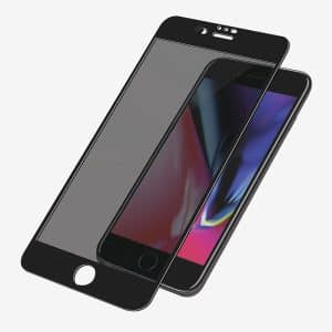 PanzerGlass™ Case Friendly CamSlider Dual Privacy Screen Protector for iPhone 6/6s/7/8 - Black