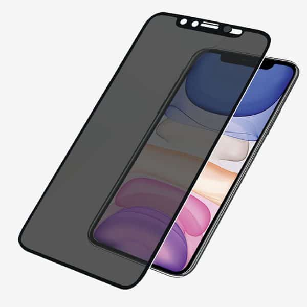 PanzerGlass™ Case Friendly CamSlider Dual Privacy Screen Protector for iPhone XR/11 - Black