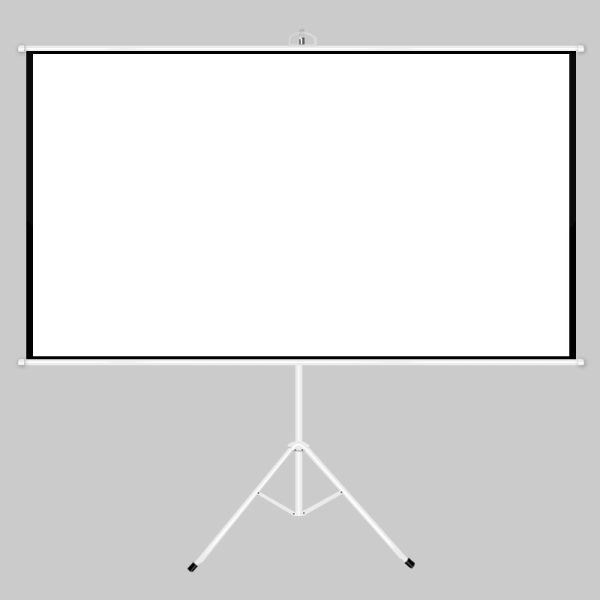 Tripod Projector Screen with Stand 100-Inch 4:3 Aspect Ratio Matte White