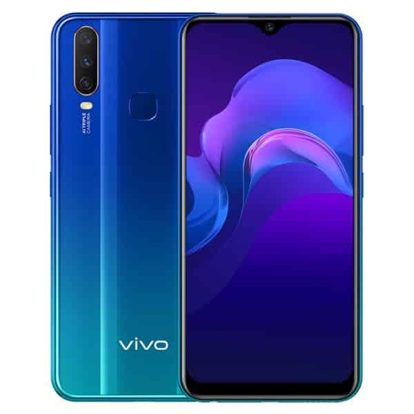 VIVO Y12 Smartphone, Dual SIM, 3GB/64GB - Aqua Blue