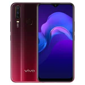 VIVO Y12 Smartphone, Dual SIM, 3GB/64GB - Burgundy Red