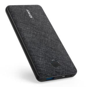 Anker PowerCore Metro Slim 10000 Black Fabric