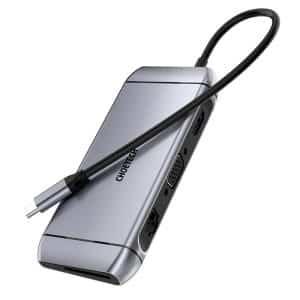 CHOETECH 9-in-1 USB-C Multiport Adapter HUB-M15 Gray