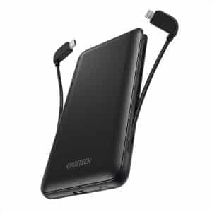 CHOETECH MFI PD18W Power Bank 10000mAh with Cable Black