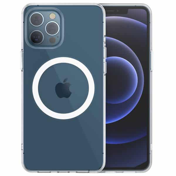 CHOETECH Magnetic Protection Clear PC Phone Case for iPhone 12 & iPhone 12 Pro 6.1-Inch PC0098