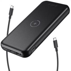 CHOETECH 10000mAh 2-in-1 Wireless Charger Power Bank Black