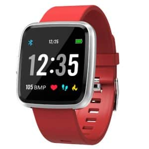 CTRONIQ Bond IX Smart Band Fitness Tracker Red