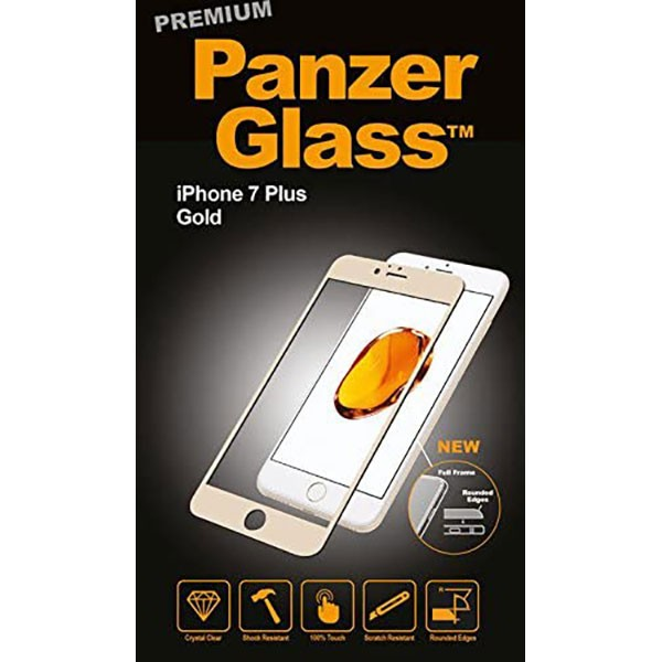PanzerGlass Premium Screen Protector for iPhone 7 Plus Gold