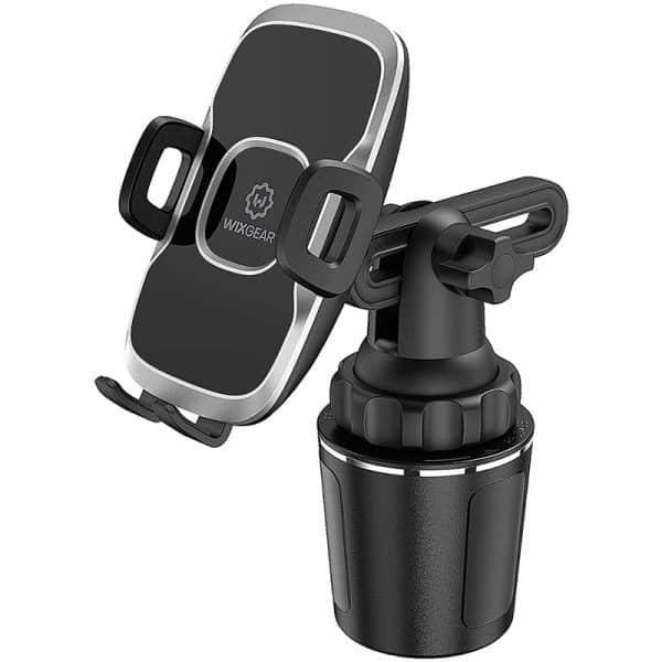 WixGear Car Cup Holder Phone Mount Adjustable Automobile Cup Holder Smart Phone Cradle Car Mount